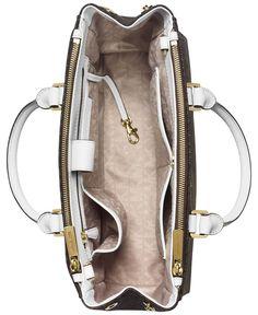b5f82f37c7d0 MICHAEL Michael Kors Sutton Medium Satchel (Brown Cherry)  Handbags  Amazon .com