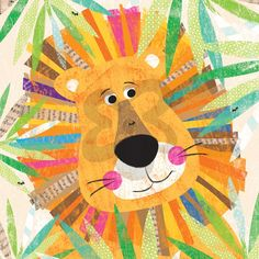 Peeking Jungle Buddies - Lion
