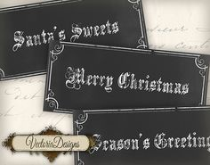 Christmas Chalkboard Labels Tags printable by VectoriaDesigns, $3.65