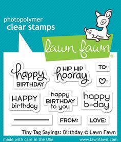 Lawn Fawn - Tiny Tag Sayings: Birthday