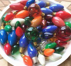 Vintage Christmas Lights Lot of 47 Replacement by OldStNicksAttic  #etsycij #etsyppt