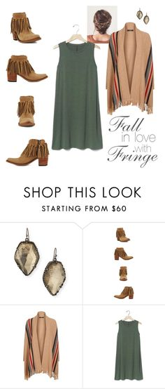 """""""Fall in LOVE with FRINGE"""" by allensboots on Polyvore featuring Kendra Scott, Weekend Max Mara and Gap"""