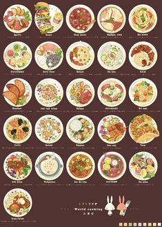 anime and food image Food Doodles, Cute Food Art, Food Sketch, Cute Food Drawings, Watercolor Food, Food Painting, Food Icons, Think Food, Food Journal