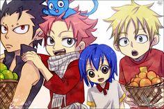 Gajeel, Natsu, Wendy, & Laxus