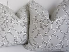 Light Gray pillow cover, Gray pillow Cover, Decorative Pillow, Fretwork Pillow Cover, Gray fretwork Pillow by ClavelFashion on Etsy https://www.etsy.com/listing/219586201/light-gray-pillow-cover-gray-pillow