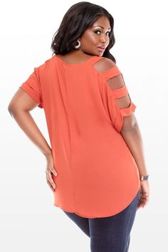 Plus Size Sugar and Spice Cutout Top | Fashion To Figure