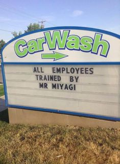 Well played, Car Wash....