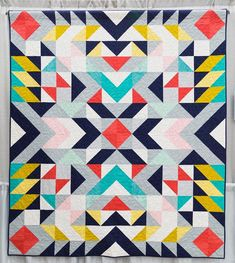 """1,054 Likes, 13 Comments - The Modern Quilt Guild (@themqg) on Instagram: """"Happy Tuesday! This eye-catching quilt is Mercury by @migademiga from #quiltcon 2015. She says, """"My…"""""""