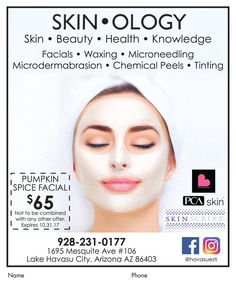 d5d2b87e485 Try the  PumpkinSpice Facial at  SKINOLOGY today for only  65. ""