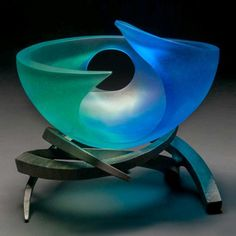 """*Art Glass - """"Blue Hole"""" by Brian Russell"""