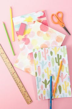DIY Decorative Paper Covered Notebooks