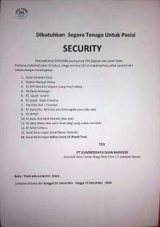 Lowongan Kerja Batam PT. Sumberdaya Dian Mandiri (14/12/2020) Batam