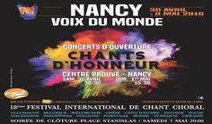 Samedi 7 mai à 20 H 00, en clôture du festival, un spectacle gratuit en plein air, transmis en live, réunit un millier de choristes place Stanislas à Nancy, dans un décor classé au patrimoine mondial de l'UNESCO. La captation audio et vidéo et l'encodage sont réalisés par la société Auvitec Est. La diffusion en …