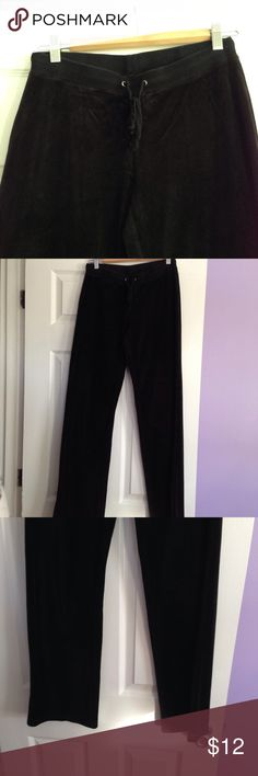 "Victoria's Secret Velour Pants Black Victoria's Secret Velour Pants approx. 33"" Victoria's Secret Pants"