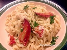 Linguine with Lobster - a quick and easy pasta dish for special ocassions