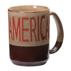M&F - American Coffee Mug,  only $9.00. Also can get Redneck, Cowboy, Cowgirl Mugs in same style Tableware; Kitchen coffee mug, tea mug, rustic mug, rustic cup, country mug
