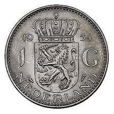 1 Gulden munt; before we got the Euro....