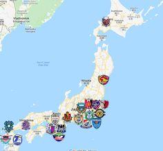 2021 J1 League Map Jubilo Iwata, Consadole Sapporo, Urawa Red Diamonds, Fc Tokyo, Vegalta Sendai, Nagoya Grampus, Vissel Kobe, Kawasaki Frontale