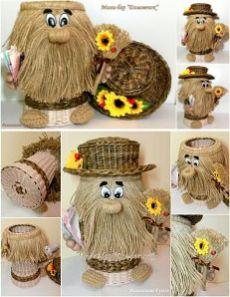 Одноклассники Twine Crafts, Sock Crafts, Felt Crafts, Diy And Crafts, Crochet Wall Art, Corn Husk Dolls, Christmas Crafts To Sell, Burlap Art, Yarn Dolls