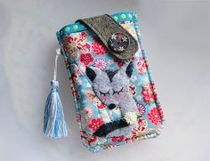 Miss Sakura Foxy Mobile Phone Pouch-iPhone/Samsung from Lily's Handmade - Desire 2 Handmade Gifts, Bags, Charms, Pouches, Cases, Purses by DaWanda.com