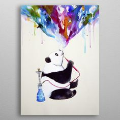 Chai my shisha panda from the... by Marc Allante | Displate