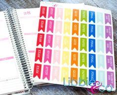 This set includes 45 college flag life planner die-cut stickers in the colors shown. They will be one sheet of matte finished stickers individually