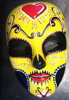 traditional day of the dead mask - Google Search