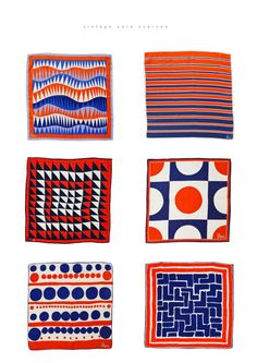 Vintage Vera Scarves / via b for bonnie. i want all of them!