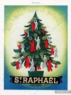 Saint-Raphaël 1939 Phili, Noël, Christmas tree