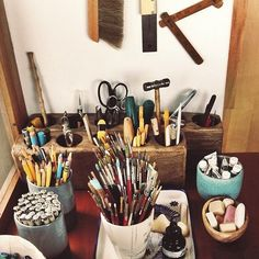 Geninne's work space / organisation and storage ideas