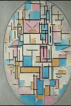 Piet Mondrian - Oval Composition with Light Colors, 1913-1914
