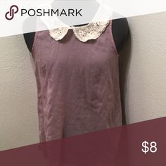 Lace collar blouse Good condition Tops Tank Tops