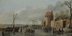 Jan van Goyen : A Scene on the Ice (Museum Boijmans Van Beuningen) 1596-1656 ヤン・ファン・ホーイェン