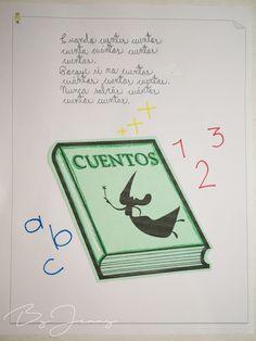 """Hoja de Trabalenguas: """"Cuando cuentes cuentos"""" con Ilustración. Más fotografías dando clic a la imagen. To Tell, Blade, Short Stories"""