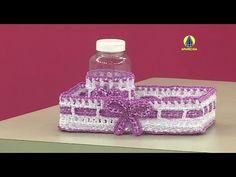 Vida com Arte | Cesta para Bebê em Crochê Endurecido por Carmem Freire - 26 de Março de 2015 - YouTube