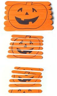 Homemade halloween puzzle - try cutting and pasting images onto the popsicle sticks for a more interesting composition. Halloween Tags, Theme Halloween, Holidays Halloween, Halloween Crafts, Happy Halloween, Outdoor Halloween, Halloween Halloween, Preschool Halloween Party, Halloween Puzzles