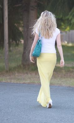 DIY Maxi Skirt - no elastic, no pleats!