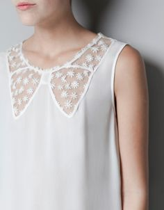lace blouse with bow neckline