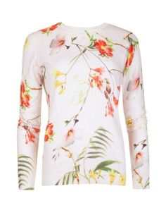 Botanical bloom print sweater | Ted Baker  | Available at Utah Woolen Mills. Downtown Salt Lake City 59 W South Temple. 801 364 1851