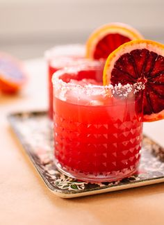 Skinny Blood Orange Margaritas