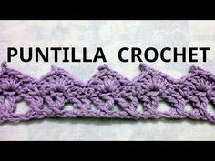 Puntilla N° 28 en tejido crochet tutorial paso a paso. - YouTube