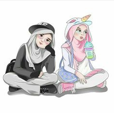 37 Ideas For Wall Paper Cartoon Anime Wallpapers Cute Cartoon Girl, Cartoon Art, Muslim Pictures, Hijab Drawing, Islamic Cartoon, Bff Drawings, Hijab Cartoon, Islamic Girl, Chibi