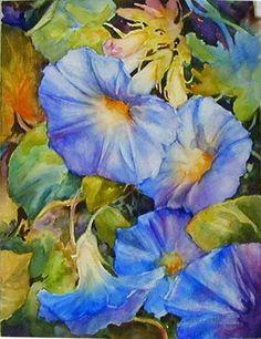 Artist: Celeste McCall  Glorious - Backwards Watercolor Method DEMO - WetCanvas