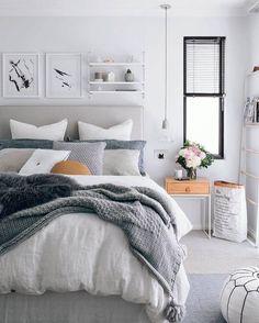 grey light bedroom