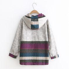 Boho Aztec Pullover Hoodie