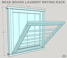 Ballard Designs-Inspired Laundry Drying Rack #diy #laundry #rack #ballarddesigns