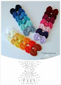 Free Crochet Patterns for Bows ⋆ Crochet KingdomA Collection of different ways to crochet bows: bobble stitch bow, crocodile stitch bow, easy bow handband andThis Pin was discovered by IndSurprising Benefits of Crochet & Knitting as We Get Old - Sp Appliques Au Crochet, Crochet Bow Pattern, Crochet Flower Patterns, Crochet Diagram, Crochet Motif, Crochet Flowers, Knitting Patterns, Crochet Gifts, Diy Crochet