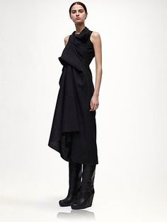 Rick Owens - Wool Dress - Saks.com Fall obsessions already starting