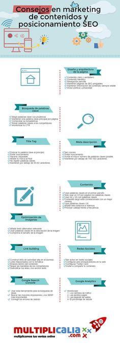 Consejos en marketing de contenidos y posicionamiento SEO