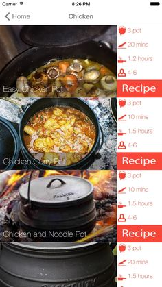Potjiekos Recipes by Fanie Deysel Dutch Oven Cooking, Dutch Oven Recipes, Cast Iron Cooking, New Recipes, Braai Recipes, Crockpot Recipes, Vegetarian Recipes, Cooking Recipes, Curry Recipes
